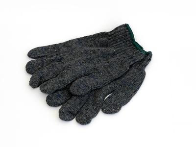 ถงมือผ้าทอสีเทาดำ