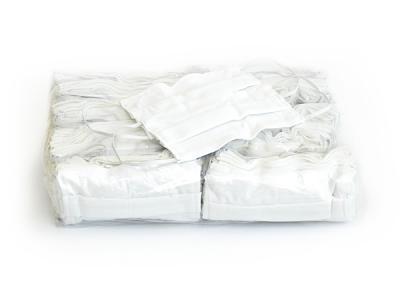 ผ้าปิดจมูกสีขาวล้วน 2 ชั้น ผ้า cotton